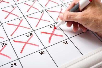 créer une chaîne de croix dans le calendrier