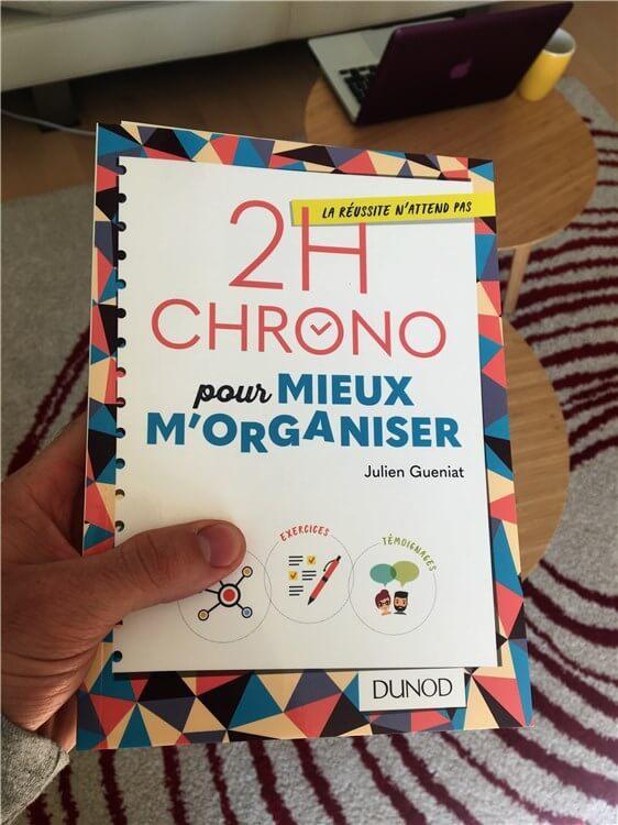 """s'organiser pour écrire le livre """"2h Chrono pour mieux m'organiser"""""""
